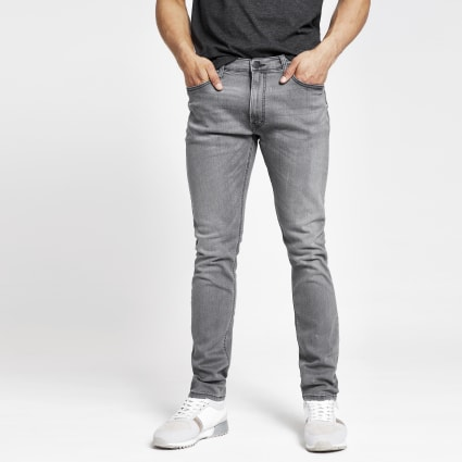 Lee grey tapered slim fit jeans