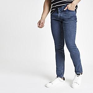 Lee – Malone – Jean skinny bleu foncé
