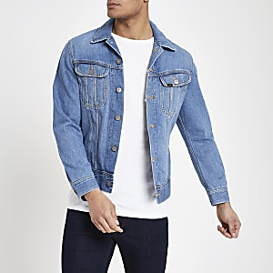 Lee – Veste en denim slim bleue