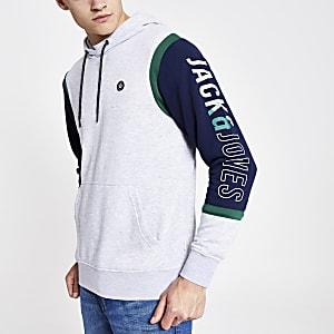 Jack and Jones - Grijze hoodie