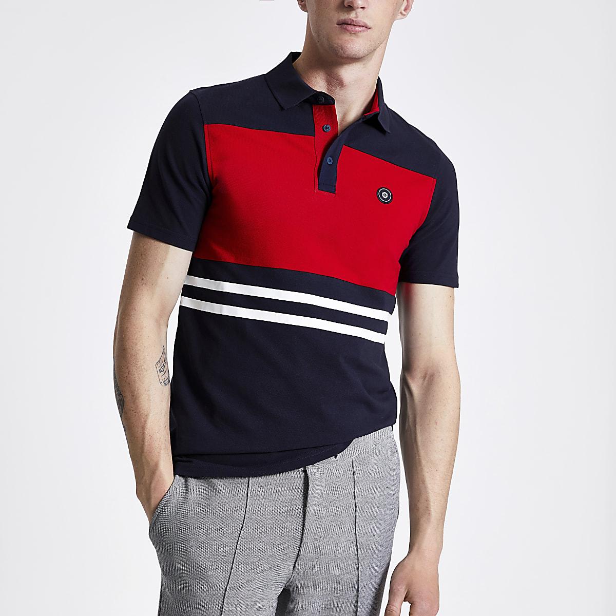 Jack and Jones navy polo shirt