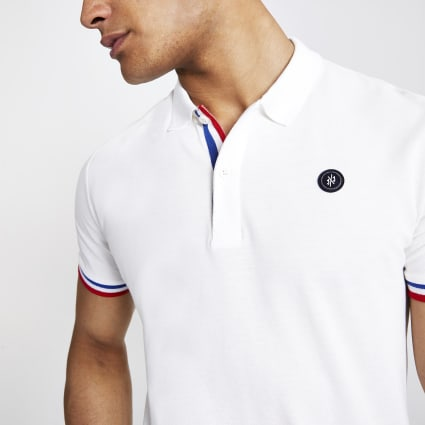 Jack and Jones white polo shirt