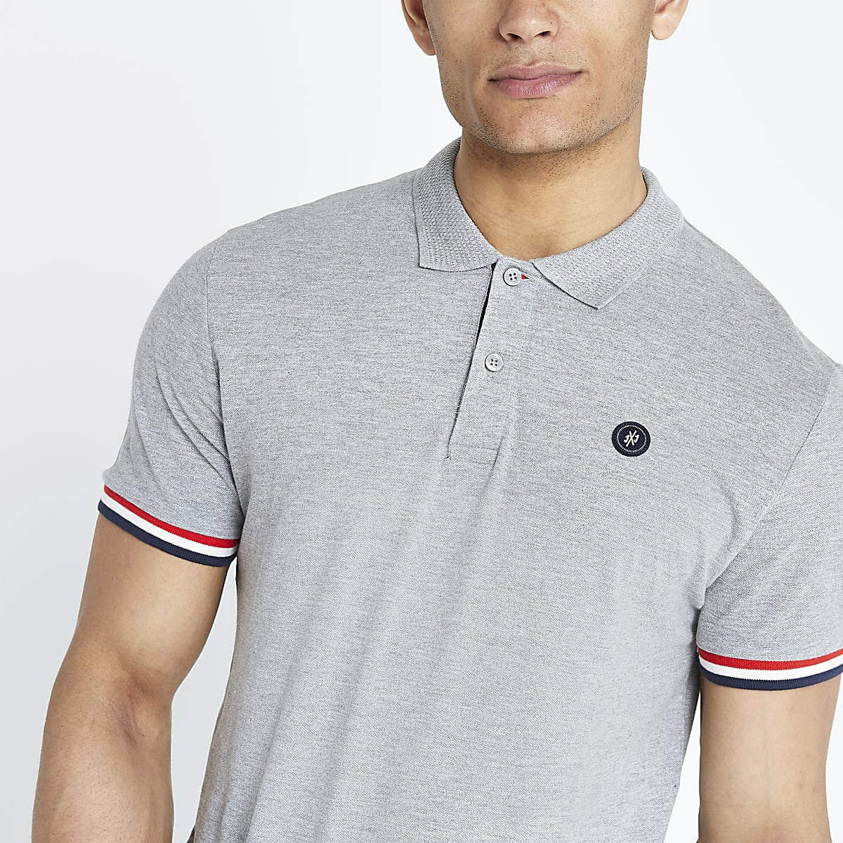 Jack and Jones - Grijs poloshirt