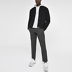 Jack and Jones black trucker jacket