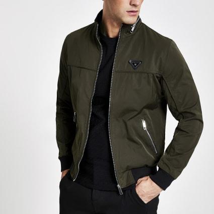 Dark green MCMLX zip front racer jacket