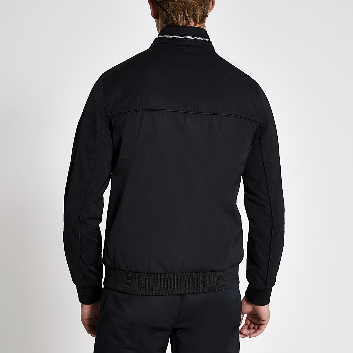 875050d1c Black zip front racer jacket