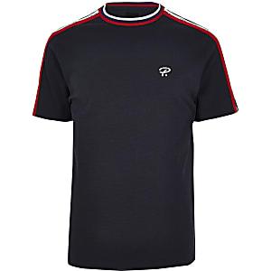 Big & Tall - Marineblauw T-shirt met 'Prolific'-bies