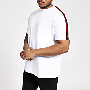 Big & Tall – Weißes Slim Fit T-Shirt