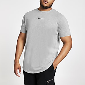 Big and Tall - T-shirt coupe slim Prolific gris