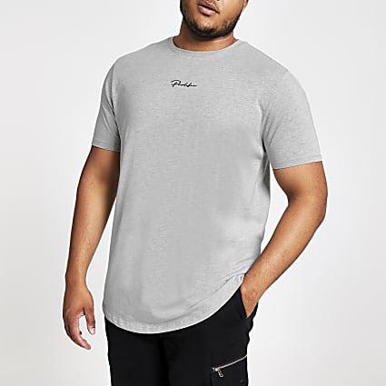 Big and Tall grey Prolific slim fit T-shirt