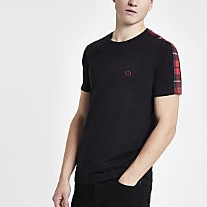 Criminal Damage - Zwart slim-fit T-shirt