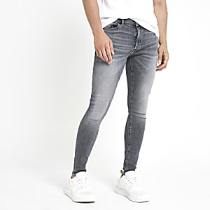 Ollie - Grijze skinny spray-on stretchjeans