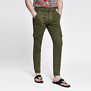 Pantalon fonctionnel cargo skinny kaki