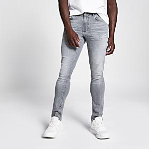 Grey Sid skinny acid jeans