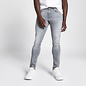 Sid - Grijze skinny acid jeans