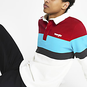 Wrangler - Wit rugbypoloshirt
