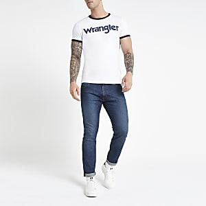 Wrangler - Wit T-shirt met logo