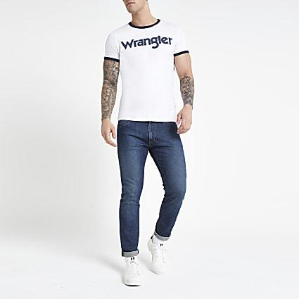 Wrangler white logo print T-shirt