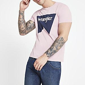 Wrangler - Roze T-shirt met logo