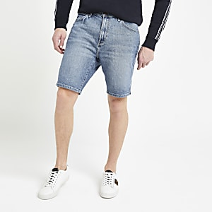 Wrangler – Short en denim bleu