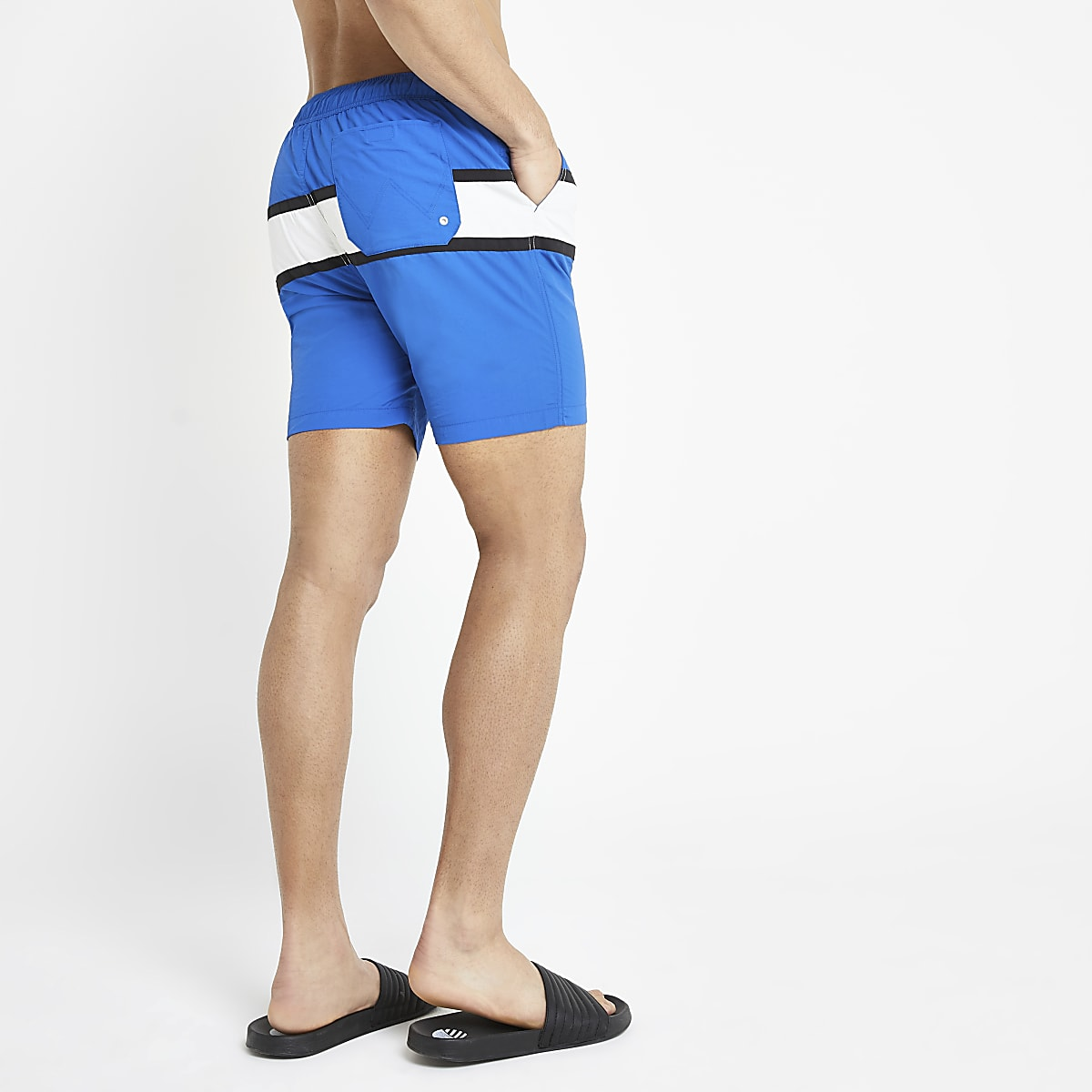 599ec27cb07fc Wrangler blue stripe swim shorts - Swim Shorts - Shorts - men