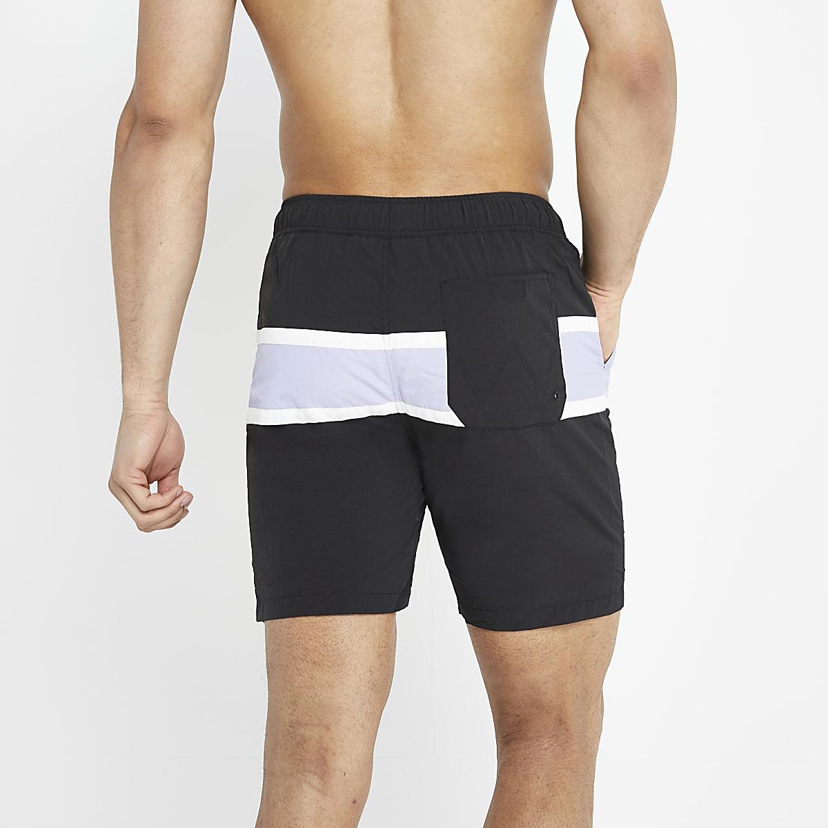 3c5d9daafb0fc Wrangler black stripe swim shorts - Swim Shorts - Shorts - men