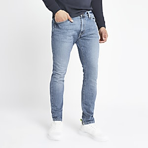 Wrangler skinny jeans in lichtblauw