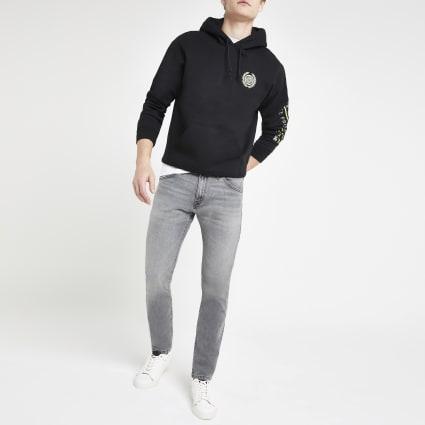 Wrangler light grey Bryson skinny jeans