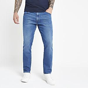 Wrangler - Lichtblauwe slim-fit jeans