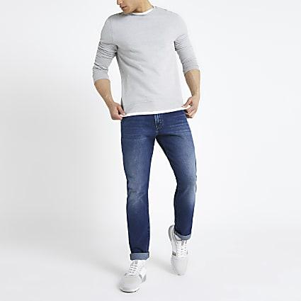 Wrangler dark blue slim fit jeans