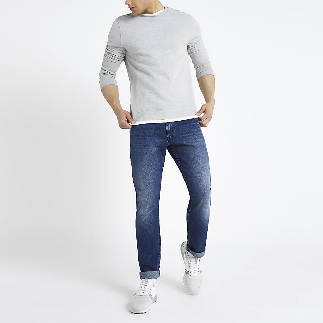 Wrangler – Jean slim bleu foncé