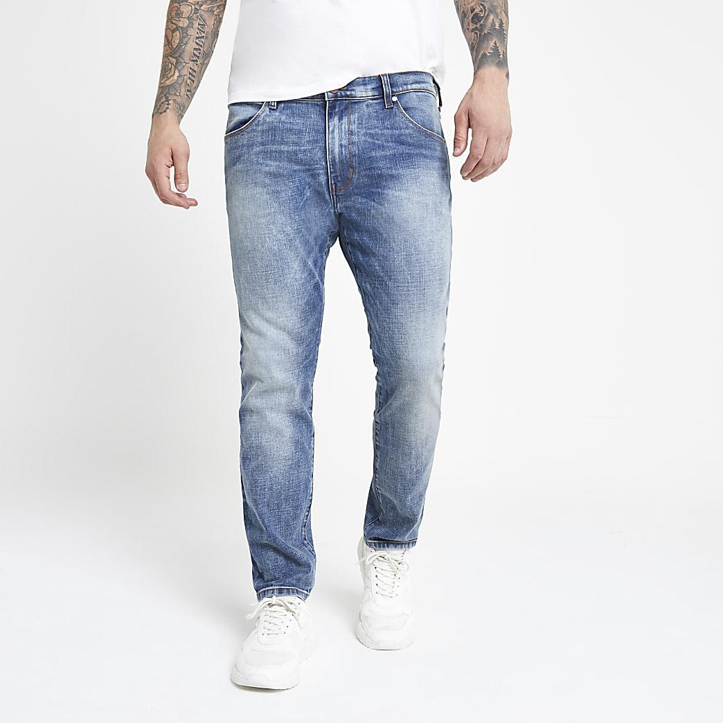 Wrangler – Blaue Slim Fit Jeans