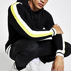 Zwarte slim-fit hoodie met 'Prolific'-print