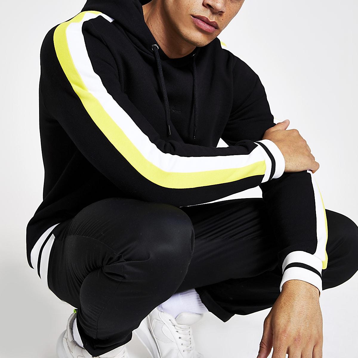 Black 'Prolific' slim fit hoodie