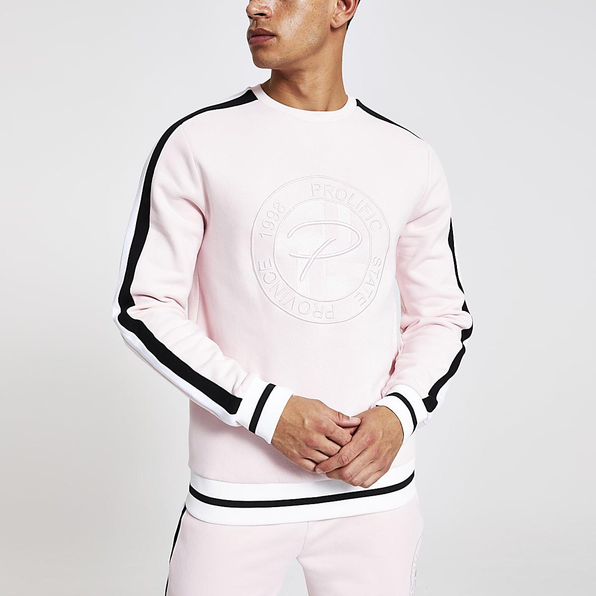 Pink 'Prolific' slim fit sweatshirt