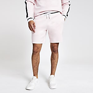 Pink 'Prolific' slim fit jersey shorts