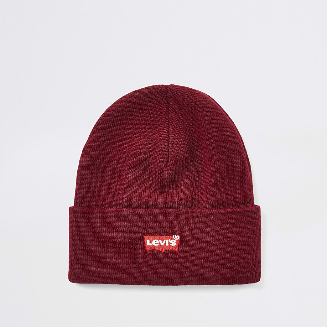 Levi's – Bonnet rouge large avec logo