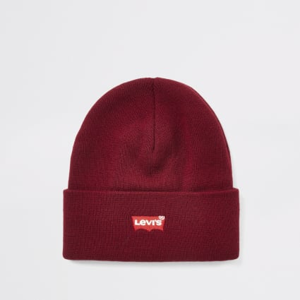 Levi's red logo slouch beanie hat