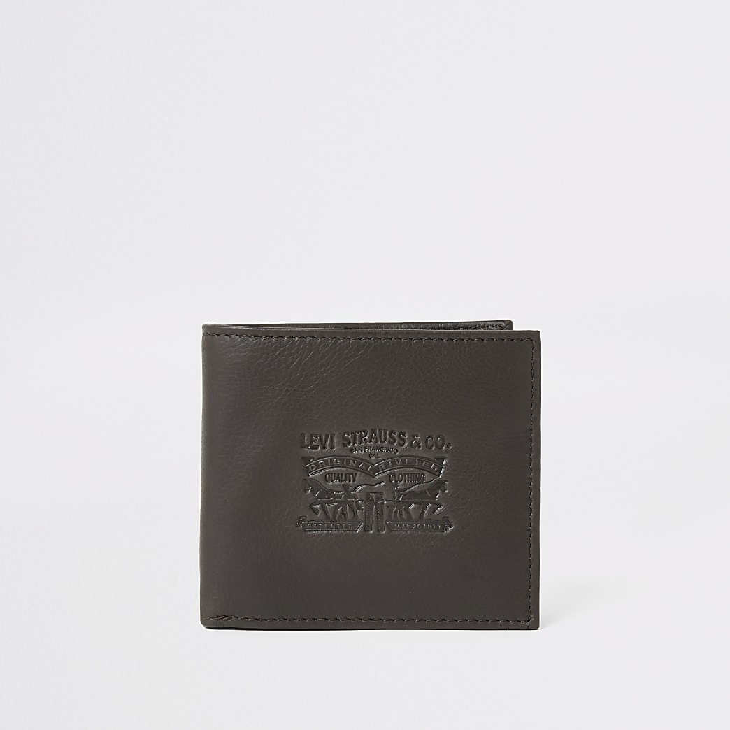Levi's dark brown bi-fold wallet