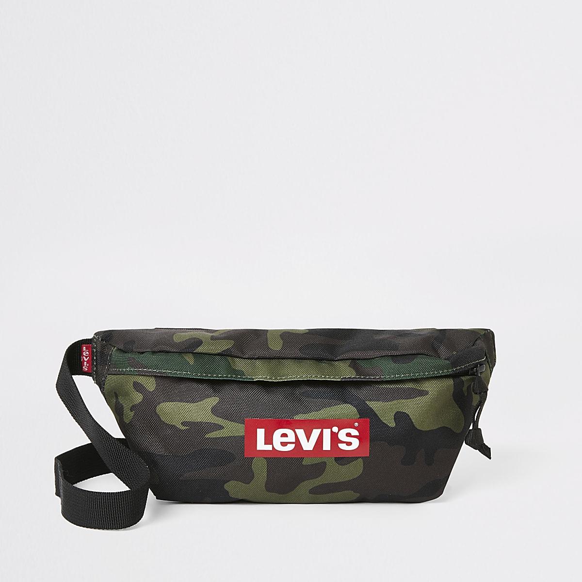 Levi's camo logo cross body bag