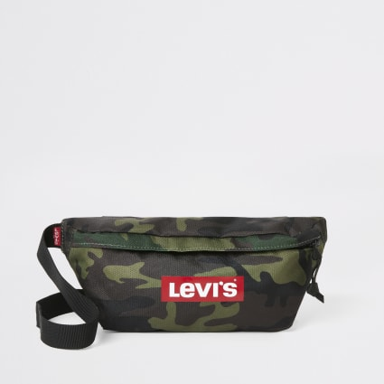 Levi's camo logo cross body bag