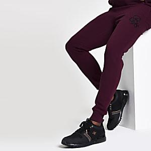 R96 – Pantalon de jogging ajusté bordeaux