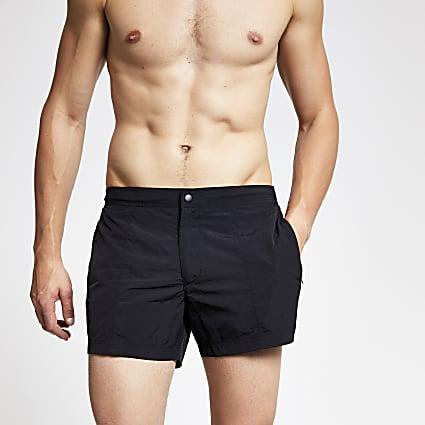 Black smart swim shorts