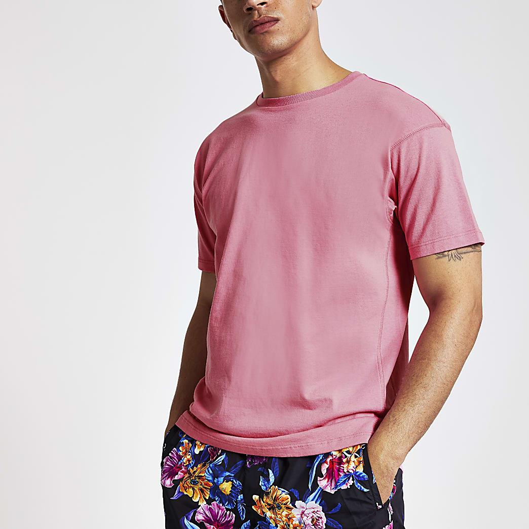 Felroze oversized T-shirt