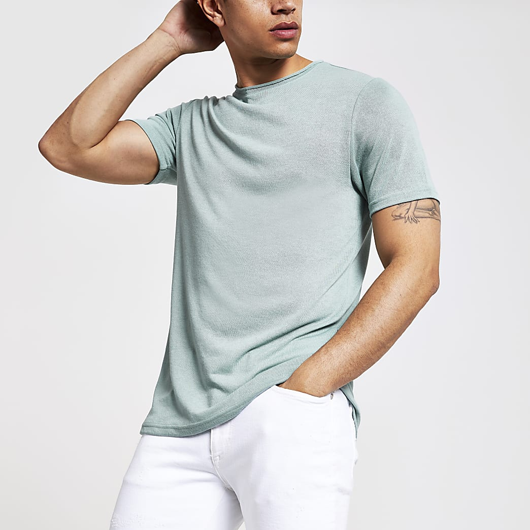 Light green slim fit T-shirt