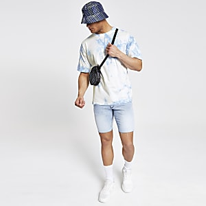 Light blue tie dye oversized T-shirt