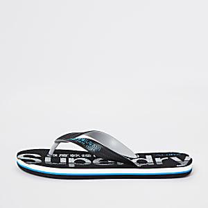 Superdry – Schwarze Flip-Flops
