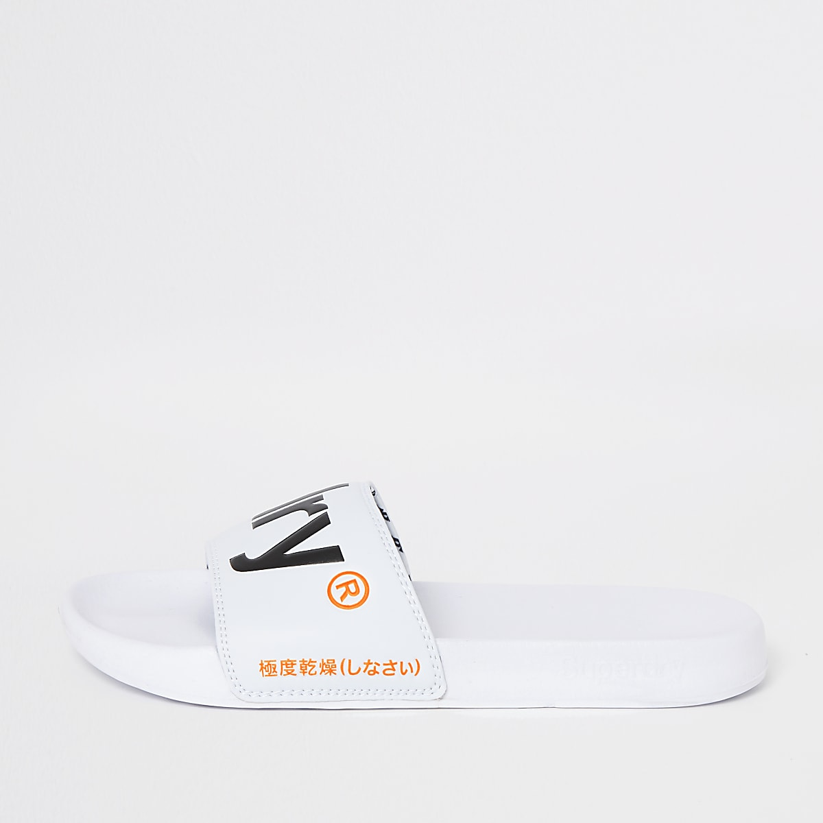 Superdry - Witte instapslippers