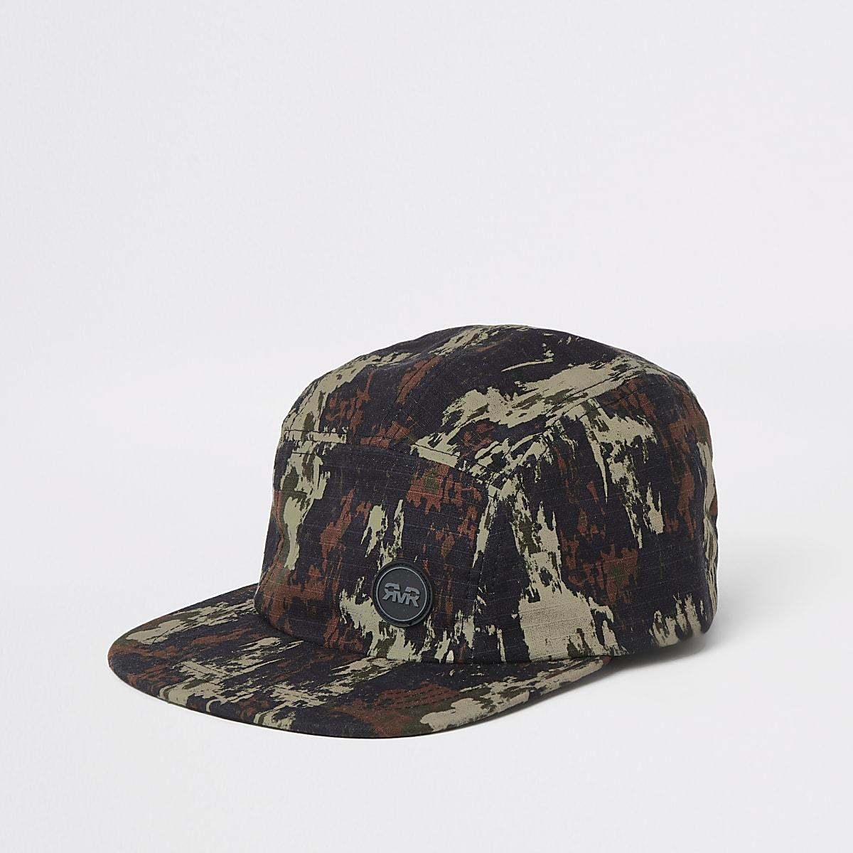 Khaki camo print cap
