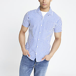 Jack and Jones blue stripe shirt